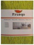 Frusqo draadjesgordijn olijfgroen 90x200cm_