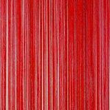 Frusqo draadjesgordijn rood 100x250cm_