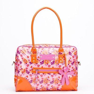 Luiertas Little Company roze/oranje