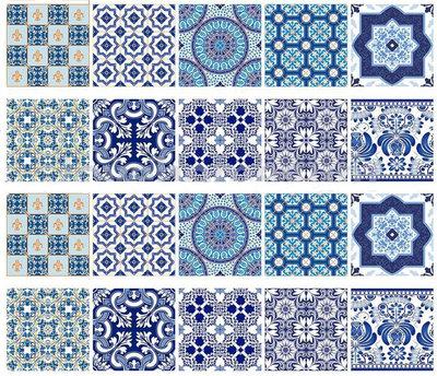 Tegelstickers mediterraans (set van 10 stickers)