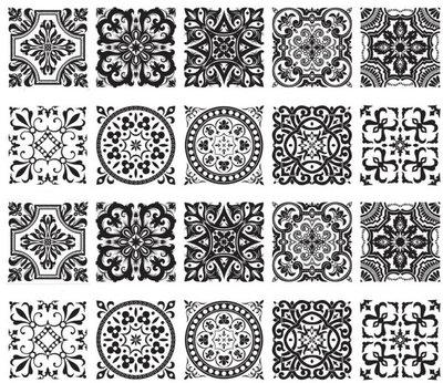 Tegelstickers barok (set van 10 stickers)