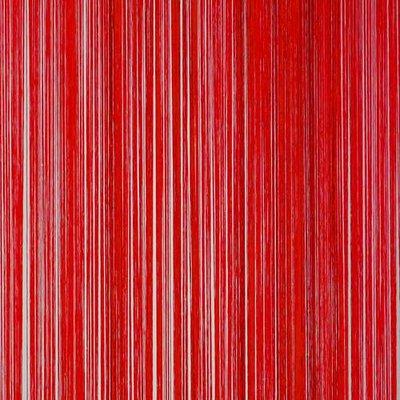 Frusqo draadjesgordijn rood 90x200cm