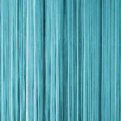 Frusqo draadjesgordijn turqoise 90x200cm