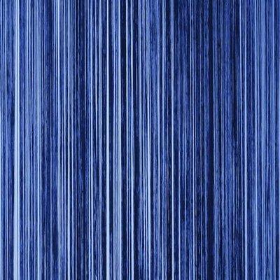 Frusqo draadjesgordijn blauw 90x200cm