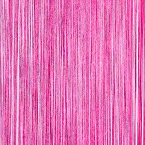 Frusqo draadjesgordijn fuchsia roze 100x250cm